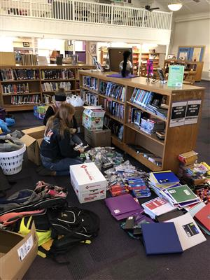 Students Help Hurricane Victims