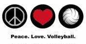 Peace. Love. Volleyball.