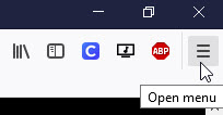 Firefox Browser Menu
