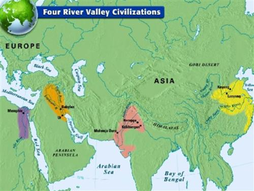 Markville history world history to 16th century map 4 indus river map 5 huang he yellow river valley sciox Images