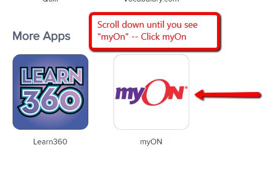 Click myOn icon